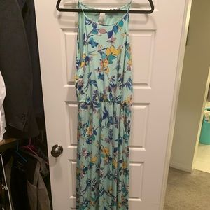 Beautiful aqua floral maxi from the limited